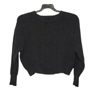 ZARA grey knit cropped sweater small